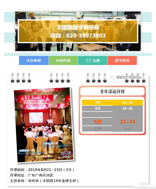 8月《丰田精益考察研修》火热报名中……
